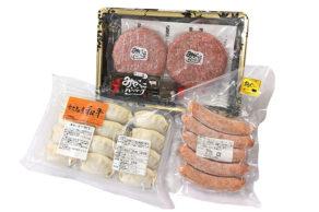 HAPPY.5 宮古牛とあぐ〜豚のハンバーグ&ソーセージ&ギョーザセット 3,300円